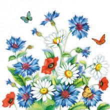 Art Decor Napkin - Cornflower
