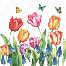Art Napkins - Tulips & Muscari