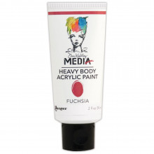 Dina Wakley Media Heavy Body Acrylic Paint, Fuchsia
