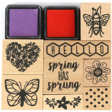 Blooming Lovely Wooden Stamp Set
