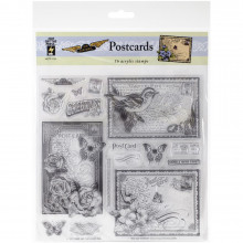 Acrylic Clear Stamp  - Postcards