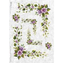 Carta di riso - Flower Corners
