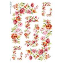 Carta di riso - Pastel Flowers