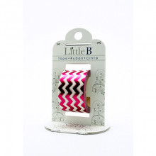 Decorative Foil Tape - Pink Chevron