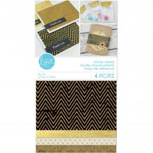 Sticker Paper Sheets - Gold Foil Fabric & Paper