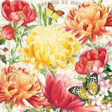 Art Tissue Napkin - Morning Blossoms