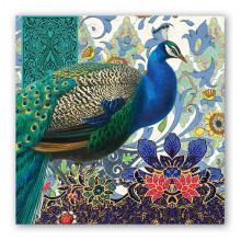 Art Tissue Napkin - Peacock