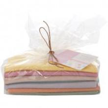 Felt Bundle, Spots/Stripes Pastels