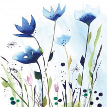 Art Decor Napkin - Aquarell Cornflowers