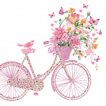 Art Decor Tissue Napkin - Happy Bike