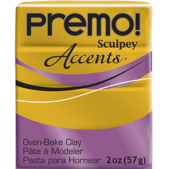 Sculpey-Premo Accents Polymer Clay – Gold