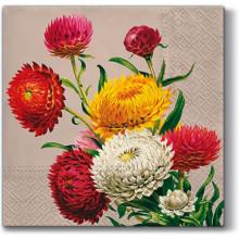 Art Decor Napkins - Strawflowers