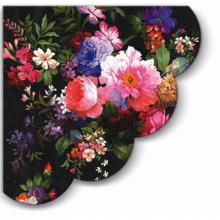 Art Tissue - Roses on Velvet, Round