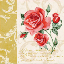 Napkin - Romantic (gold)