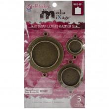 Bezels - Circles, Bronze