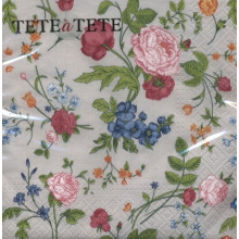Art Tissue Napkin - Blumenmuster