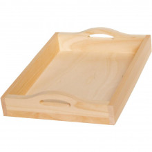 Pine Rectangle Serving Tray W/Handles